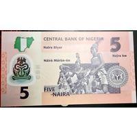 Нигерия 5 найра 2017, полимер, unc