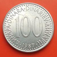 100 динаров 1987 ЮГОСЛАВИЯ