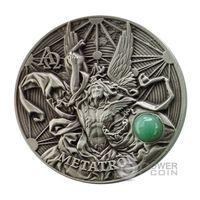 """Ниуэ 5 долларов 2016г. Первая монета серии Хор ангелов: """"Метатрон"""". Монета в шикарном деревянном подарочном футляре; сертификат. СЕРЕБРО 62,27гр.(2 oz)."""