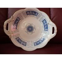 Восхитительная большая фарфоровая тарелка. Винтаж. Англия