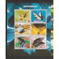 Я Мавритания 2016 Бабочки