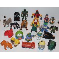 W: Набор небольших игрушек, Б/У, всего 21 штука, большинство из Макдональдс, Mcdonalds, цена за штуку меньше 1 рубля