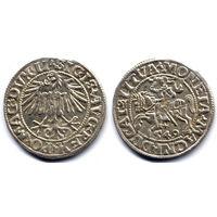 Полугрош 1549, Жигимонт Август, Вильно. Коллекционное состояние, штемпельный блеск