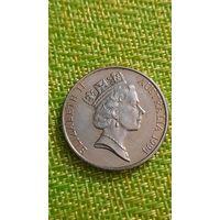 Австралия 20 центов 1994 г ( средней возраст ,пореже )