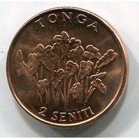 ТОНГА - 2 ЦЕНТА 2002
