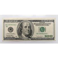 100 долларов США, 1996 г. со звездой (звёздная)
