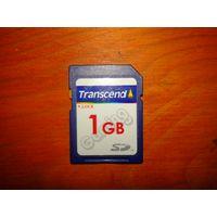 Карта памяти SD - Transcend 1 GB