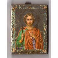 """Икона """"Святой мученик Вонифатий""""Покровитель страдающих алкоголизмом.Оберегает от пьянства.Размер (6.5см х 9 см)Редкая икона Без МЦ."""