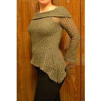 Ажурный ассиметричный свитер р-р 46