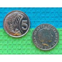 Каймановы острова 5 центов.