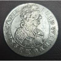 Орт / 18 грошей / 1685 Германия Польша Пруссия серебро сохран !!!