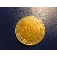 Чили 500 песо 2012 г.