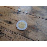 МЕКСИКА 5 песо  2001 год(биметалл) с рубля