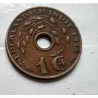 Голландская Ост-Индия 1 цент, 1938  2-13-11