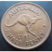 Австралия. 1\2 пенни 1947