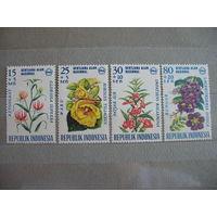 Индонезия. Цветы. полная серия. 1966г. к.ц.-2.8 е.