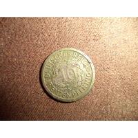Германия 10 рентенпфеннигов 1924 J