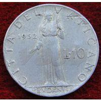 6893:  10 лир 1952 Ватикан
