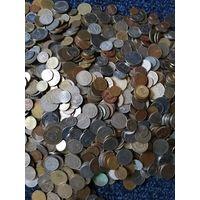 Мега лот 10 кг. монет мира без СССР России Украины Польши Литвы