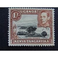 Кения, Уганда, Танганьика. Георг VI. Флора.