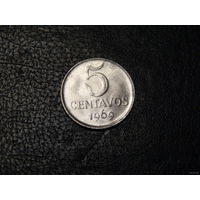 Бразилия 5 сентаво 1969
