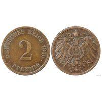YS: Германия, Рейх, 2 пфеннига 1910G, KM# 16