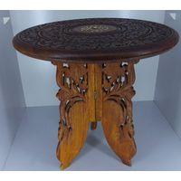 Старинный миниатюрный резной стол + в Подарок второй столик