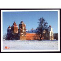 Мир Замок с юго-западной стороны зимой