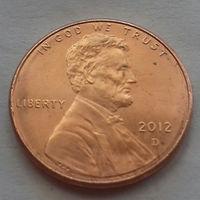 1 цент США 2012 D, AU