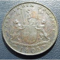 Британская индия. 10 кэш 1803