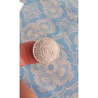 279# 1/2 франка 1992 . франция