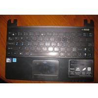 Клавиатура с тачпадом и частью корпуса ASUS X101