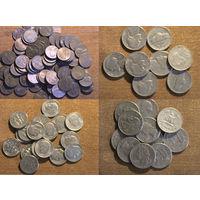 Монеты США от 1 цента до квотера
