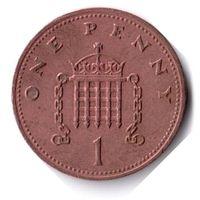 Великобритания. 1 пенни. 1990 г.