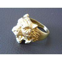 "Кольцо перстень ""Голова тигра"" (19 размер)"