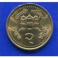Непал 2 рупии 2003 UNC