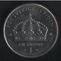 Швеция 1 крона 1972,200,2008 г. (*). Сохран!!! Цена за все.