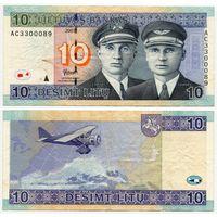 Литва. 10 лит (образца 2007 года, P68) [серия AC]