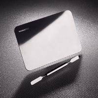 Manlypro стальная палитра для смешивания косметики в комплекте со шпателем