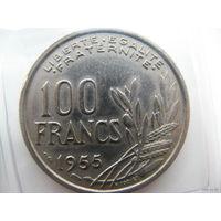 Франция 100 франков 1955г.
