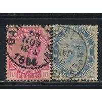 Бельгия Кор 1883 Леопольд II Стандарт #35,37
