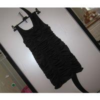 Маленькое черное платье H&M на сборках, р.M