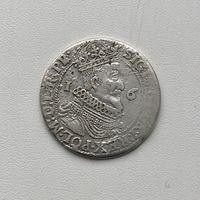 Монета Орт 1/4 талера 1624 г. (Перечекан с 1623 в 1624 г.) Гданьск Сигизмунд lll РЕДКИЙ отличный