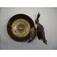 Статуэтка птицы металл