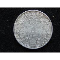 Индия 1рупия 1901 г