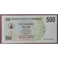 500 долларов 2006 года - Зимбабве - UNC