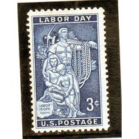 США.Ми-704. Мозаика, штаб-квартира AFL-CIO . Серия: День труда.1956