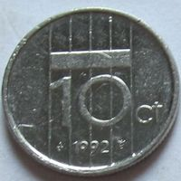 Нидерланды 10 центов 1992 г
