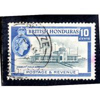 Британский Гондурас. Mi:GB-BZ 146. Стенли-Аэропорт.  Серия: Королева Елизавета II. 1953.