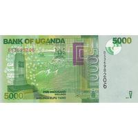 Уганда 5000 шиллингов 2017 года (UNC)